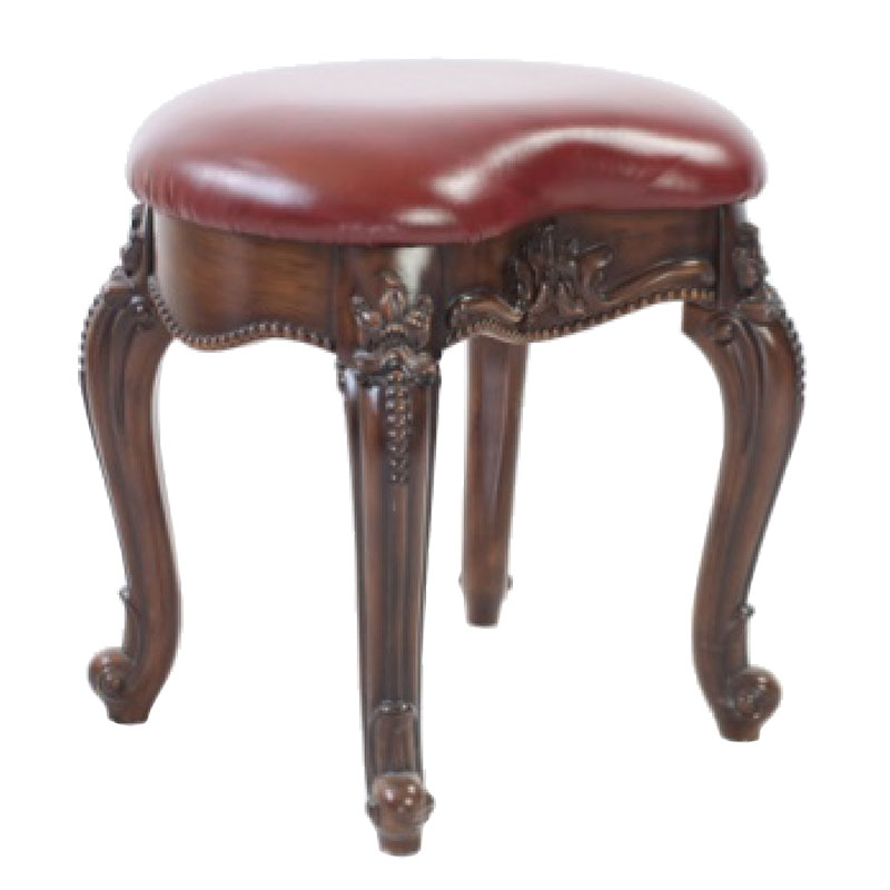 Leather Dressing Table Stool
