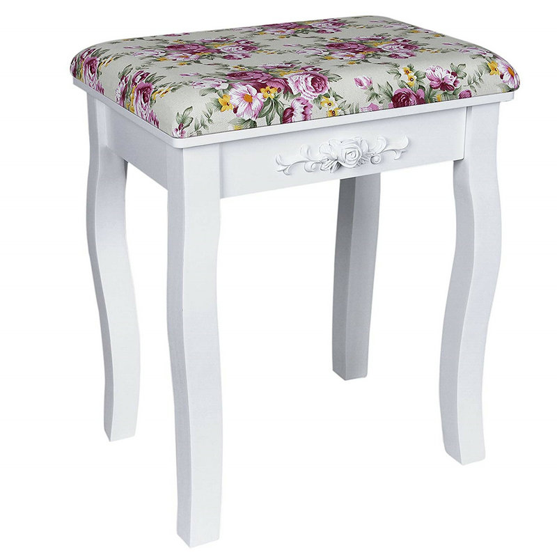 Patterned Dressing Table Stool