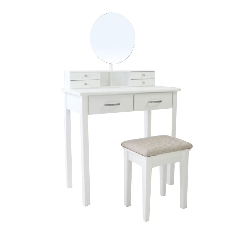 6 Round Mirror Dressing Table