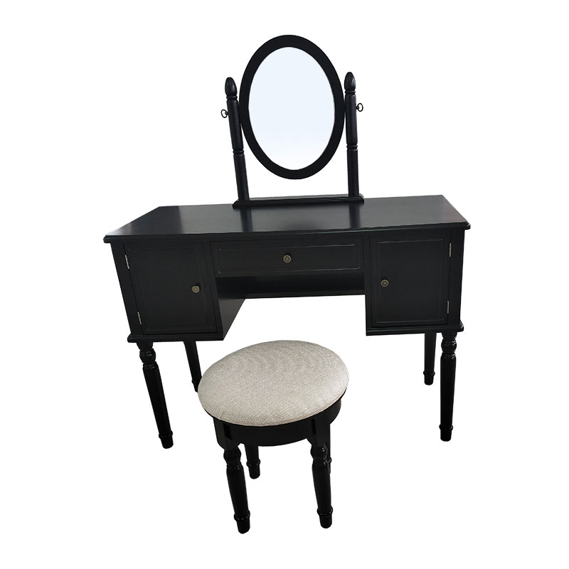 Black Retro 3 Pumping 2 Door Dressing Table