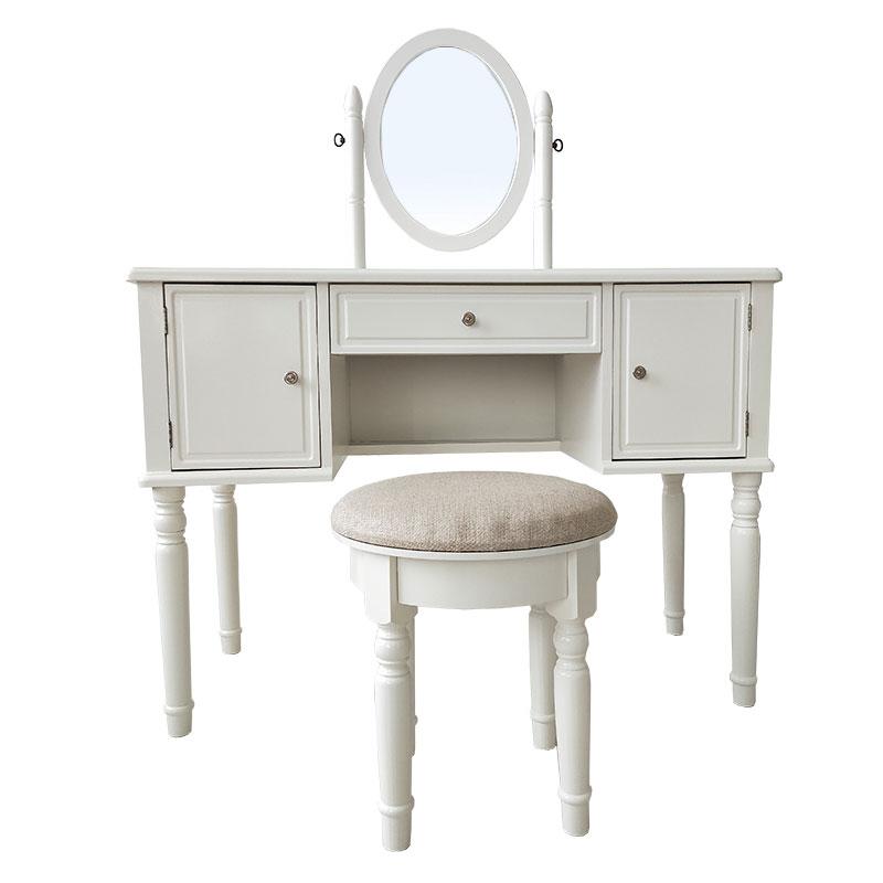 White Retro 3 Pumping 2 Door Dressing Table