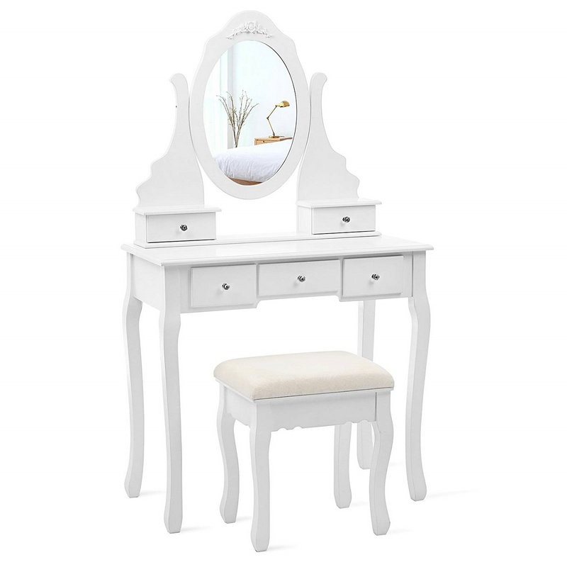 5 Round Mirror Dressing Table