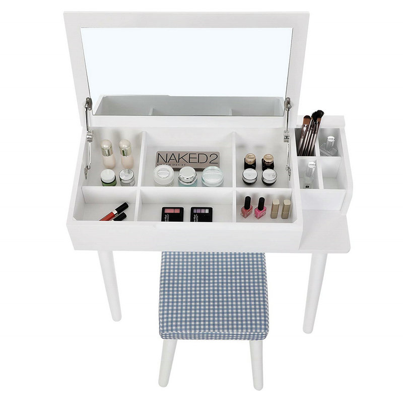 Clamshell dressing table