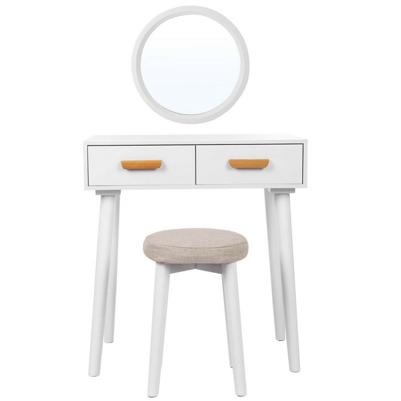 2 Drawer Mirror Dressing Table