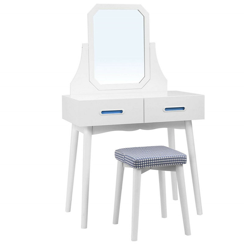 2 Square Mirror Dressing Table