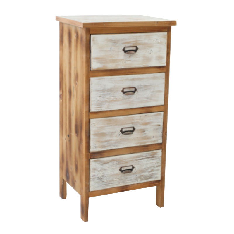 4 Drawers Bedside Table